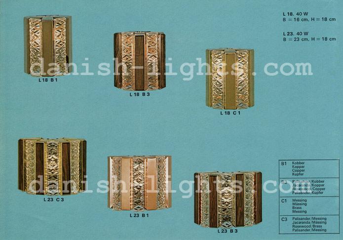 Unspecified designer for Coronell: L18 B1, L18 B3, L18 C1, L23 C3, L23 B1, L23 B3