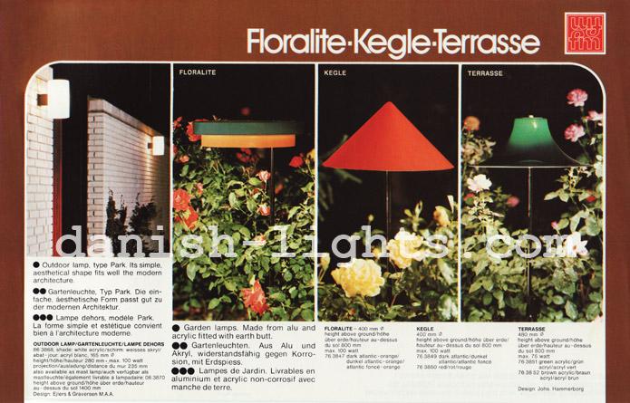 Ejlers & Graversen, Jo Hammerborg for Fog & Mørup: Park, Floralite, Kegle, Terrasse