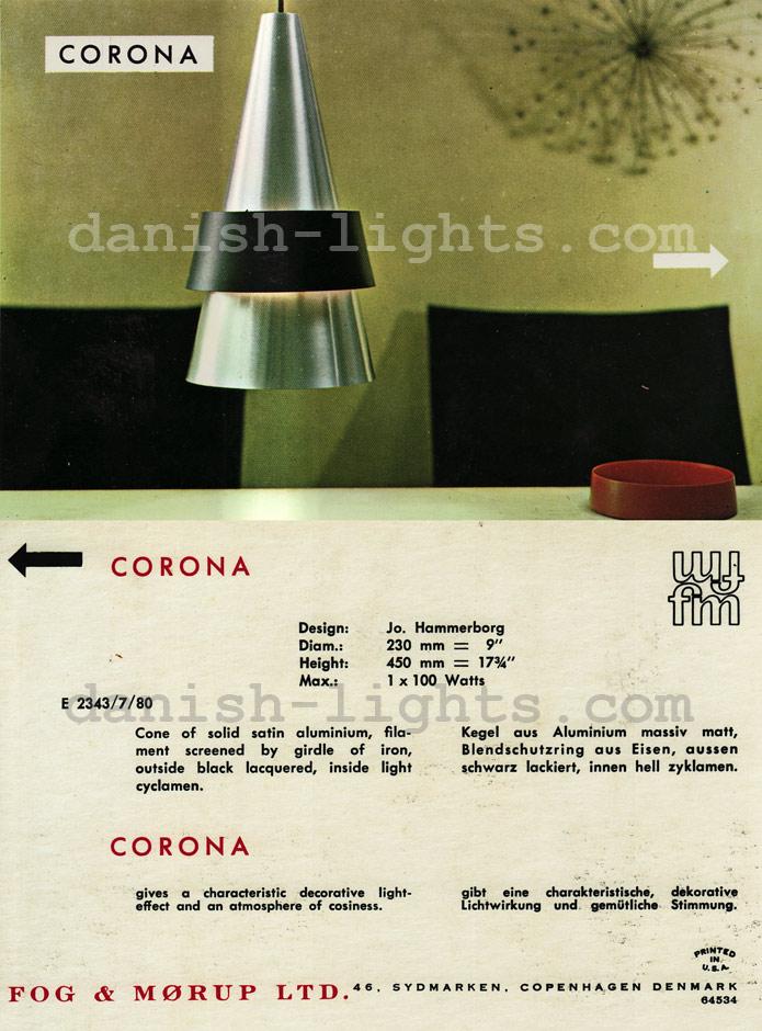 Jo Hammerborg for Fog & Mørup: Corona