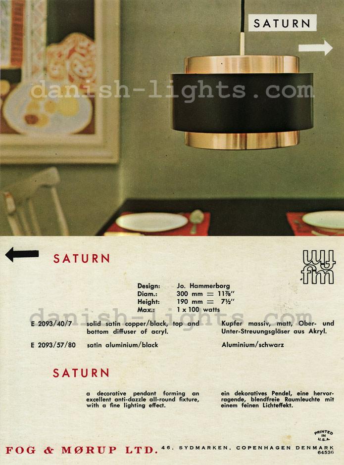 Jo Hammerborg for Fog & Mørup: Saturn