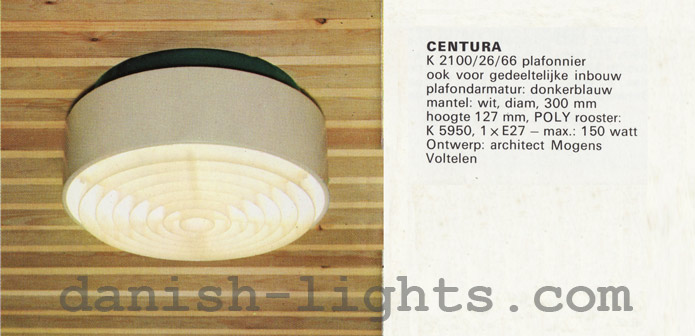 Mogens Voltelen for Fog & Mørup: Centura ceiling light