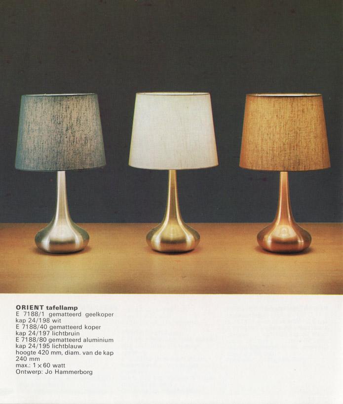 Jo Hammerborg for Fog & Mørup: Orient table lamps