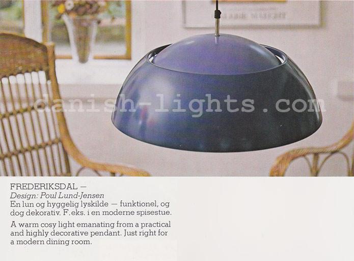 Poul Lund-Jensen for Holmegaard: Frederiksdal pendant light