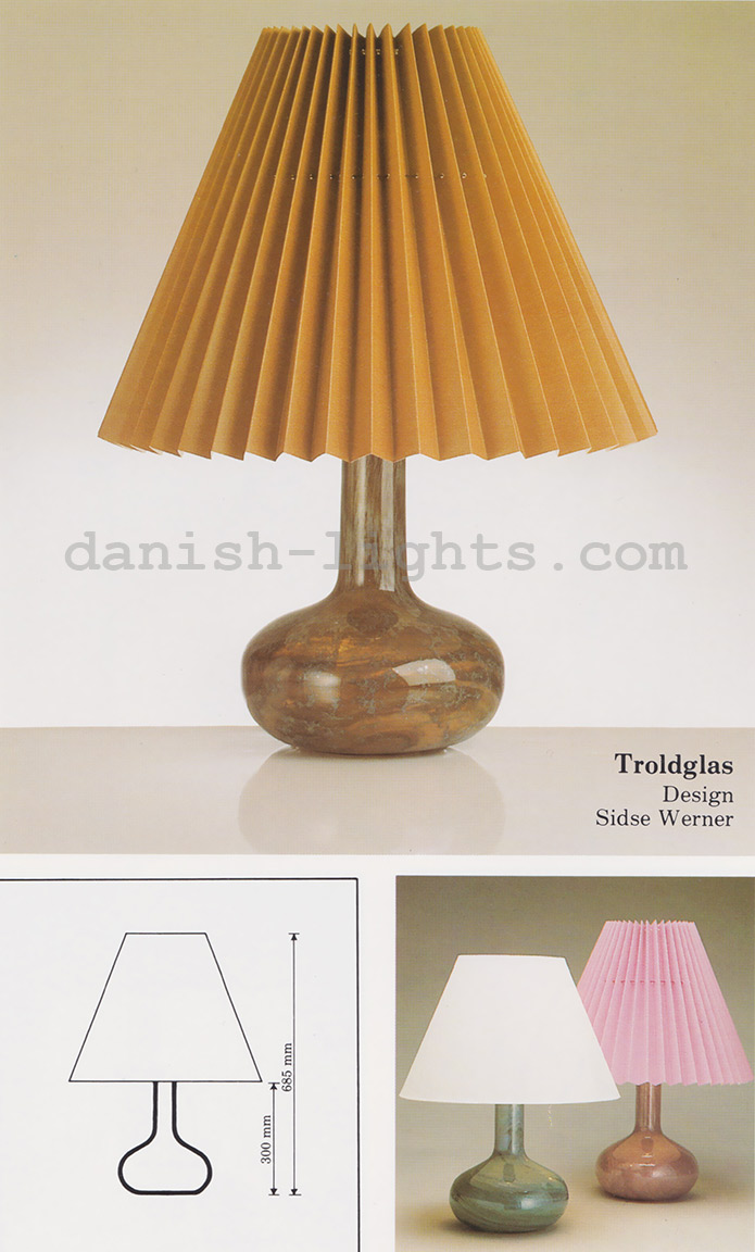 Troldglas table lamp by Sidse Werner for Holmegaard