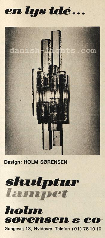 Sven Aage Holm Sørensen for Holm Sørensen & Co: Skulptur lampet