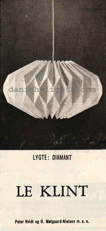 Peter Hvidt & Orla Mølgaard-Nielsen for Le Klint: Diamant
