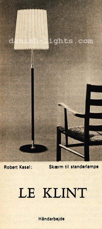 Robert Kasal for Le Klint: lampshade for floor lamp