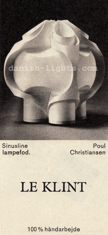 Sinusline table lamp by Poul Christiansen for Le Klint