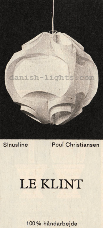 Sinusline pendant by Poul Christiansen for Le Klint