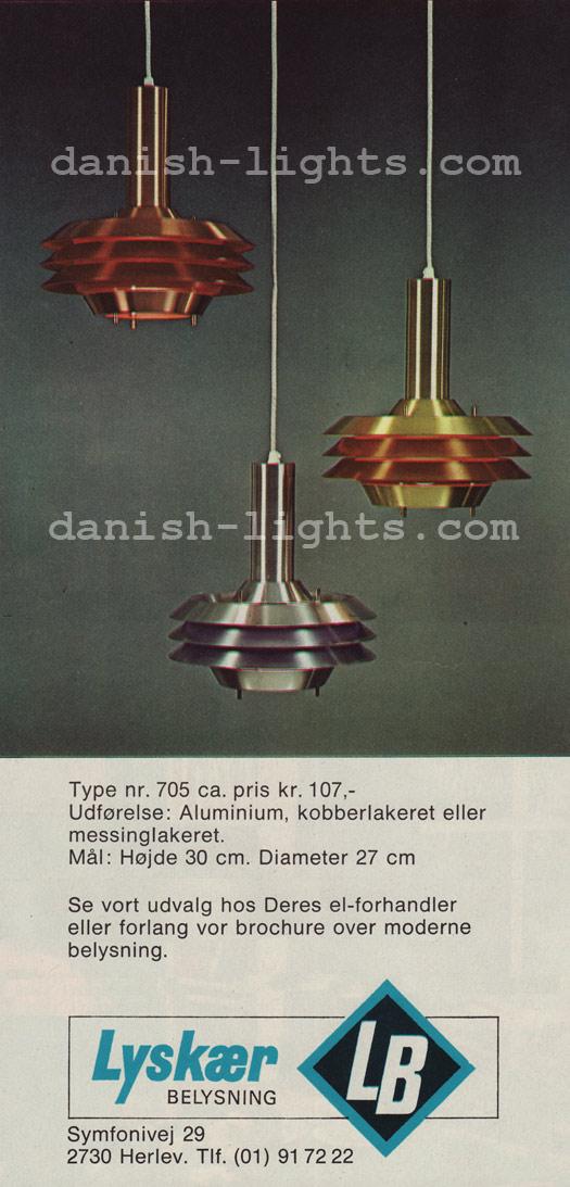 Unspecified designer for Lyskaer Belysning: 705