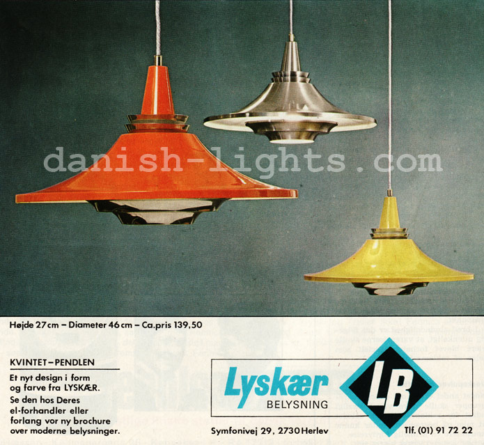 Unspecified designer for Lyskaer Belysning: Kvintet
