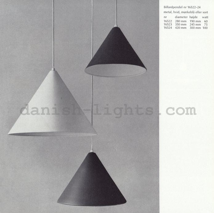 Unspecified designer for Louis Poulsen: Billiardpendel 16522, 16523, 16524