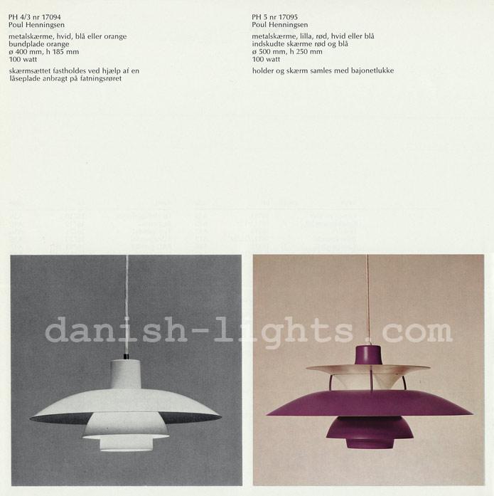 Poul Henningsen for Louis Poulsen: PH 4/3, PH 5