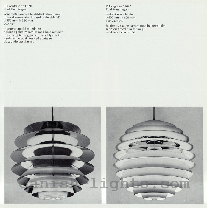 Ultramoderne Poul Henningsen for Louis Poulsen: PH Kontrast, PH Kugle OR-86