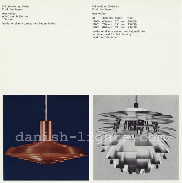 Poul Henningsen for Louis Poulsen: PH Tallerken, PH Kogle