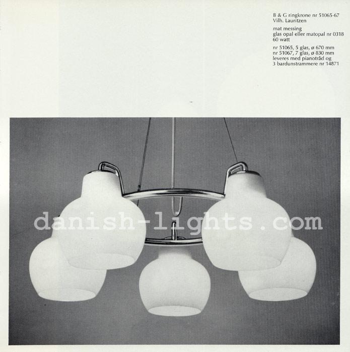 Vilhelm Lauritzen for Louis Poulsen: B&G 51065-67