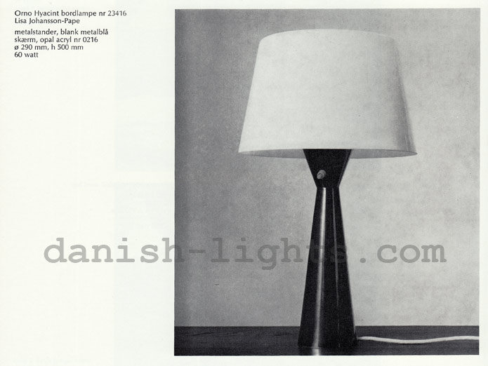 Lisa Johansson-Pape for Louis Poulsen: Orno Hyacint table lamp