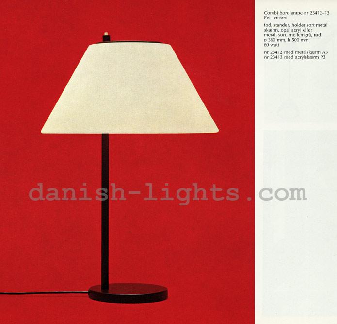 Per Iversen for Louis Poulsen: Combi table lamp