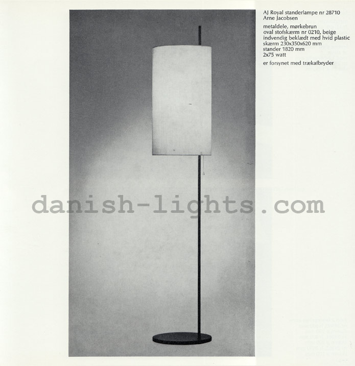 Arne Jacobsen for Louis Poulsen: AJ Royal floor lamp 28710