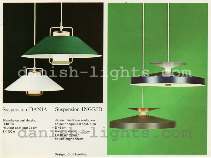 Unspecified designer, Knud Hjerting for Lyfa: Dania, Ingrid