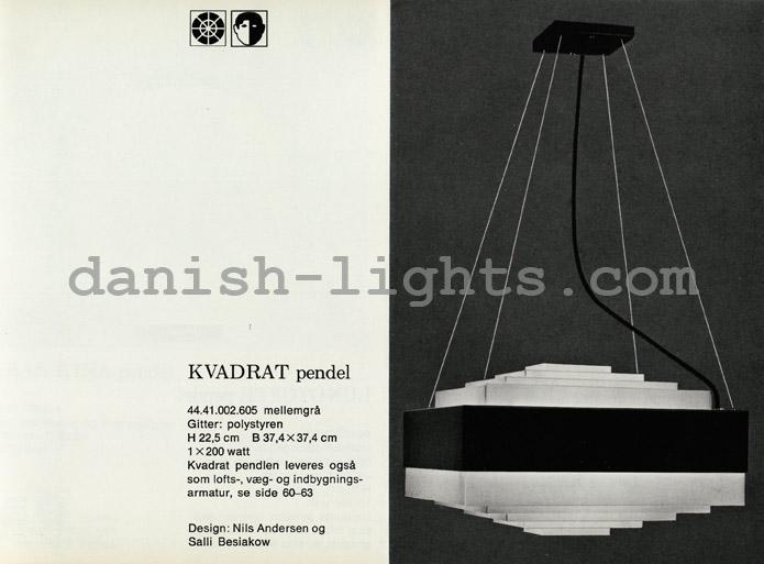 Nils Andersen & Salli Besiakow for Lyfa: Kvadrat pendant light