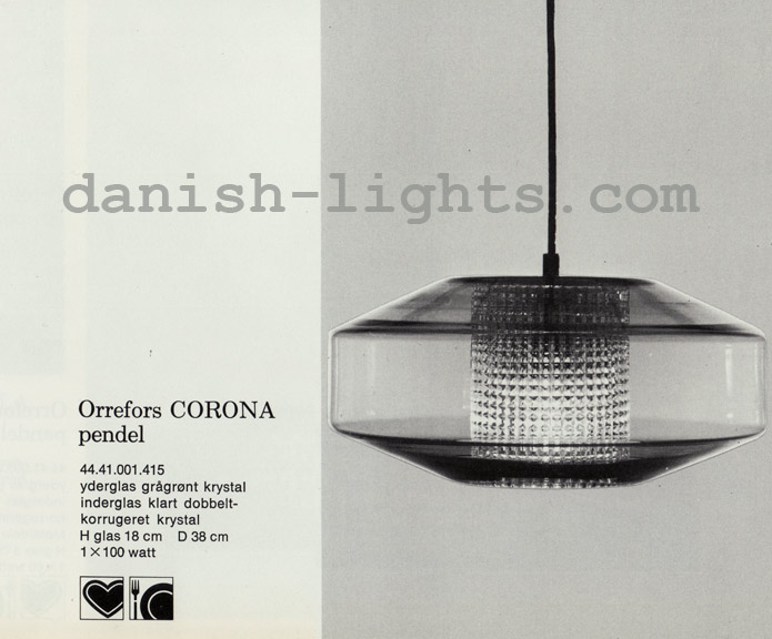 Unspecified designer for Lyfa: Orrefors Corona