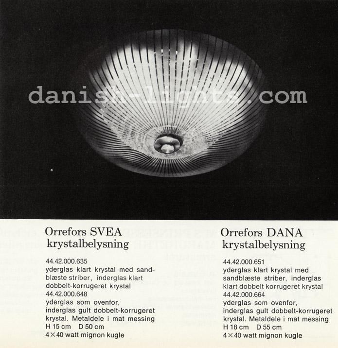 Unspecified designer for Lyfa: Orrefors Svea, Orrefors Dana