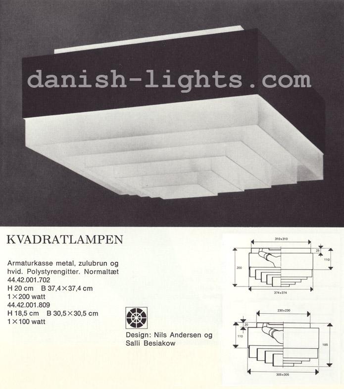 Nils Andersen & Salli Besiakow for Lyfa: Kvadrat ceiling light