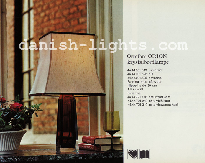 Unspecified designer for Lyfa: Orrefors Orion table lamp