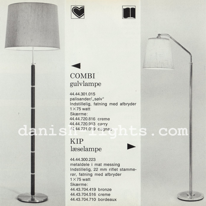 Unspecified designer for Lyfa: Combi and Kip floor lamps