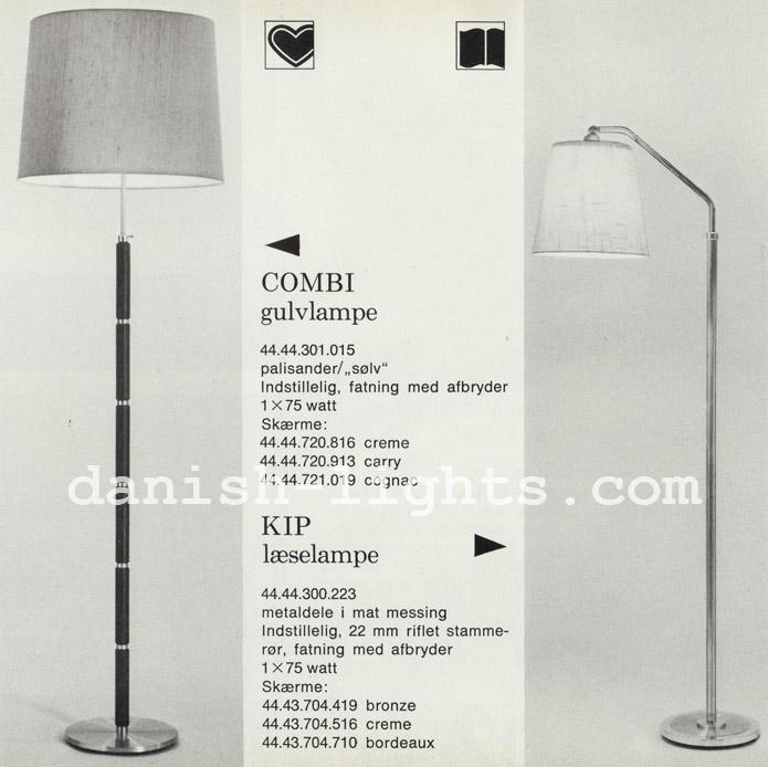 Unspecified designer for Lyfa: Combi and Kip floor lamps