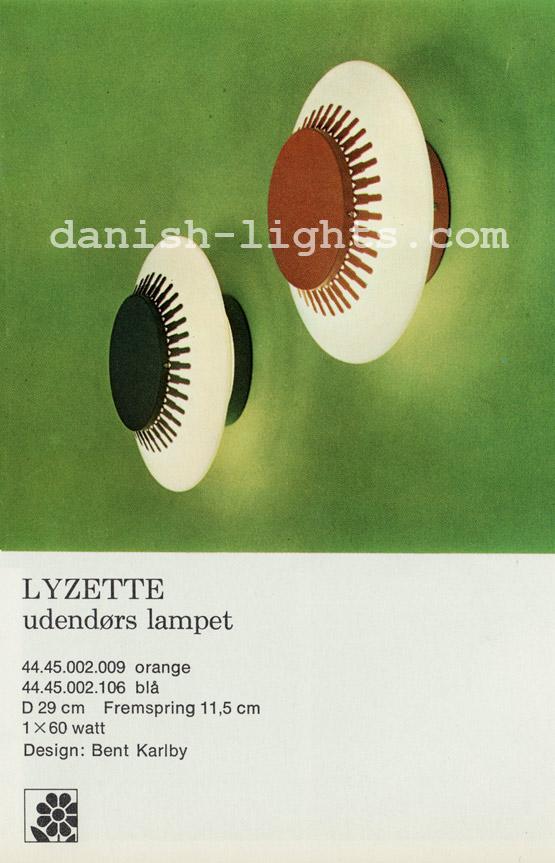 Bent Karlby for Lyfa: Lyzette outdoor wall light