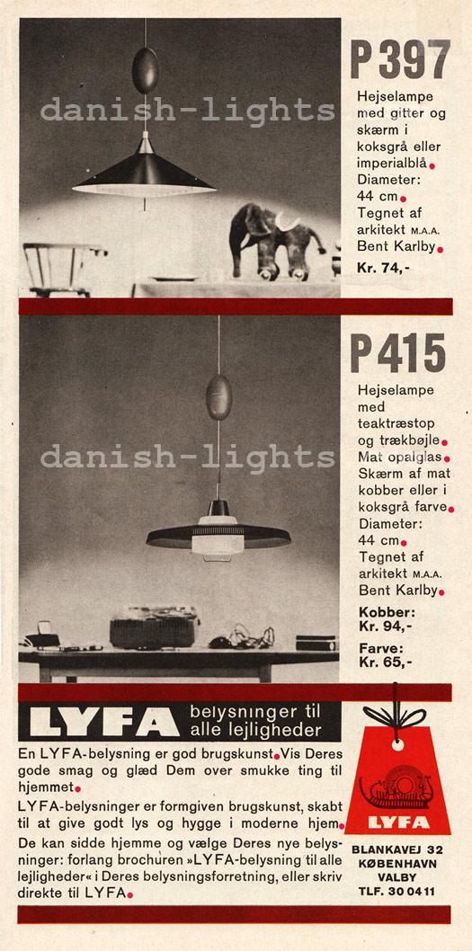 Bent Karlby for Lyfa: P397, P415