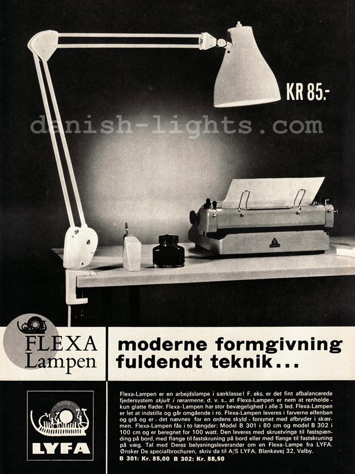 Unspecified designer for Lyfa: Flexa-lampen