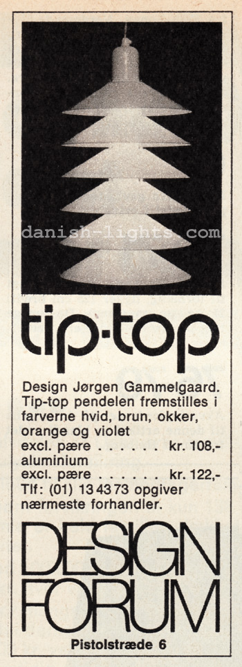 Jørgen Gammelgaard for Design Forum: Tip-Top