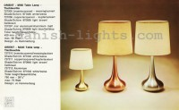 Jo Hammerborg for Fog & Mørup: Orient Mini, Orient Maxi table lamps 1