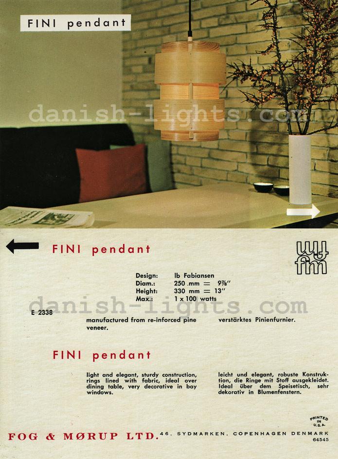Ib Fabiansen for Fog & Mørup: Fini pendant