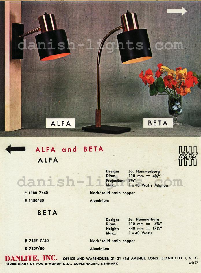 Jo Hammerborg for Fog & Mørup: Alfa, Beta