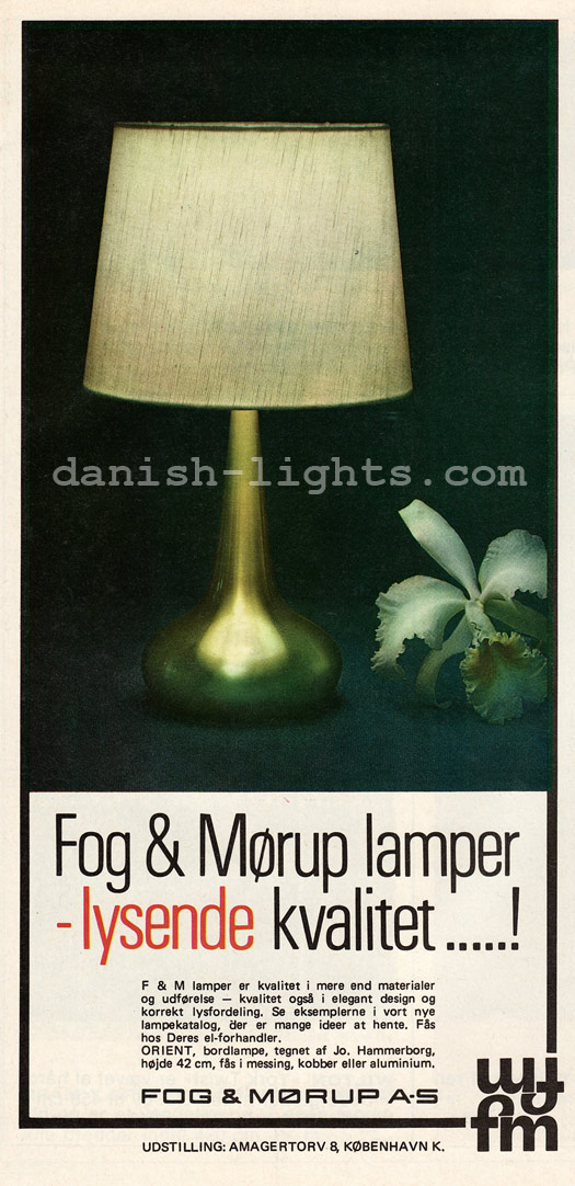 Jo Hammerborg for Fog & Mørup: Orient table lamp