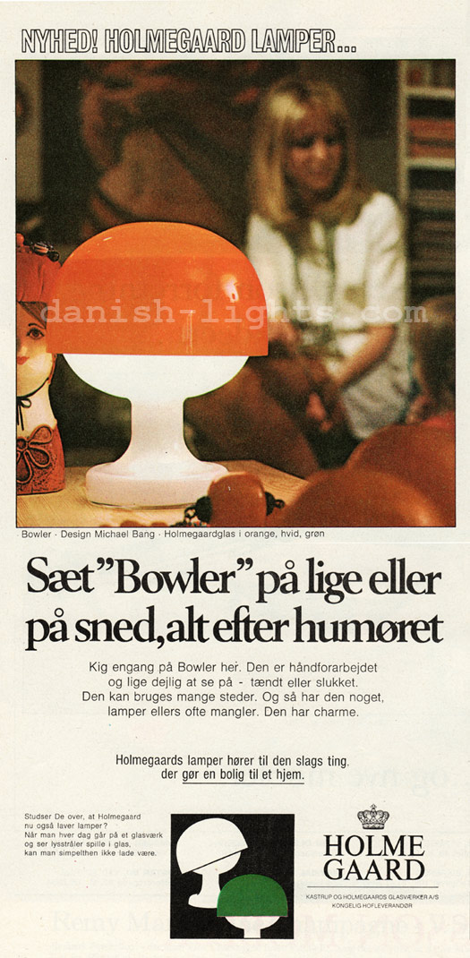 Michael Bang for Holmegaard: Bowler