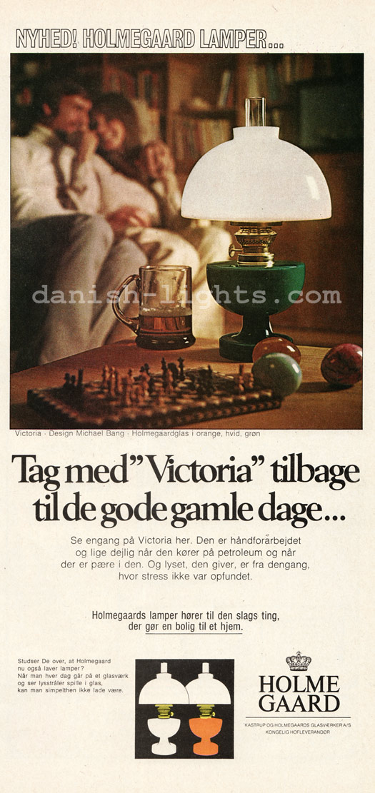 Michael Bang for Holmegaard: Victoria