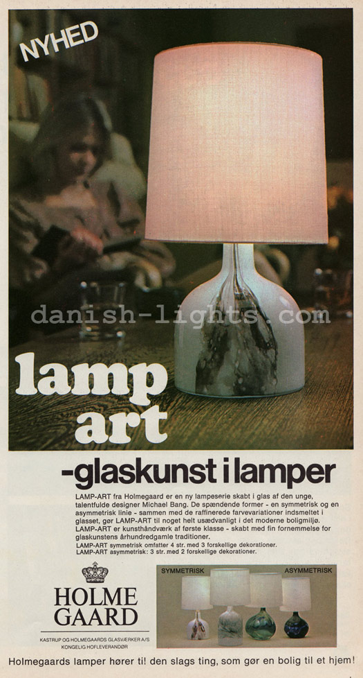Michael Bang for Holmegaard: Lamp-art