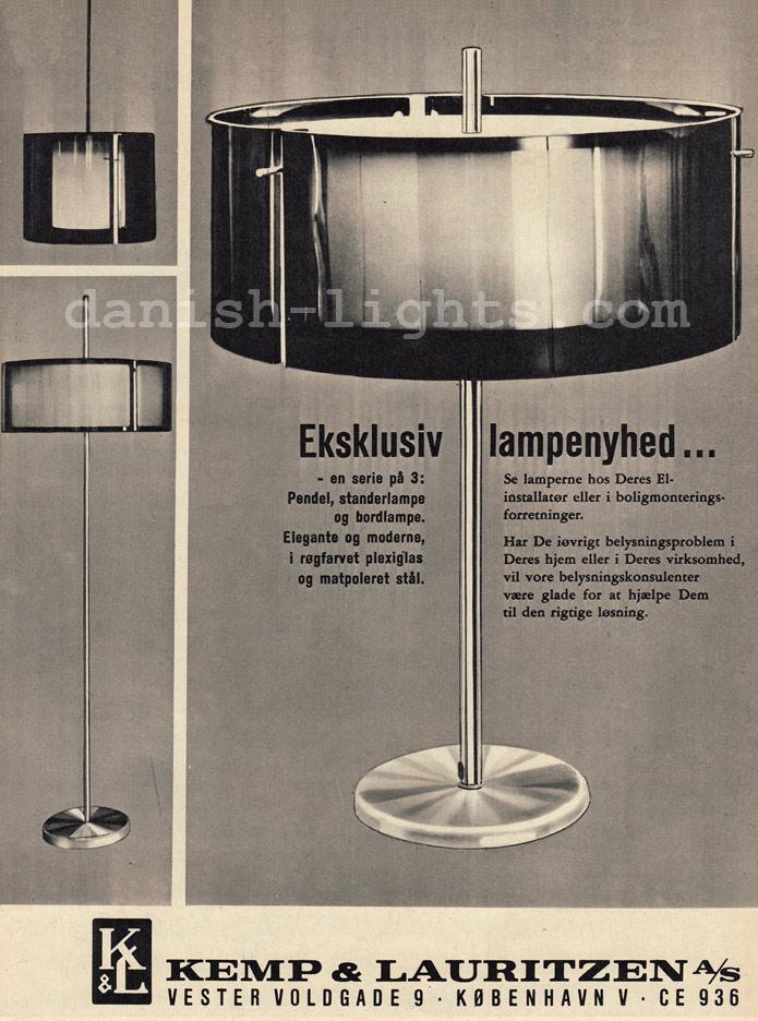 Unspecified designer for Kemp & Lauritzen: Plexiglas lamps
