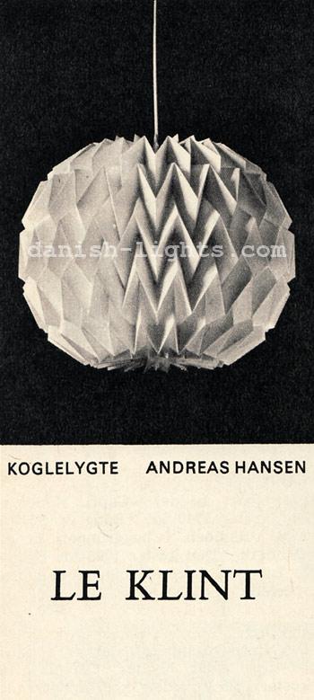 Andreas Hansen for Le Klint: Koglelygte