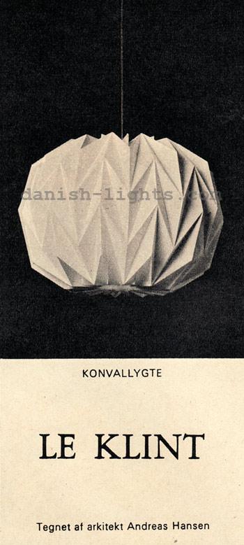 Andreas Hansen for Le Klint: Konvallygte