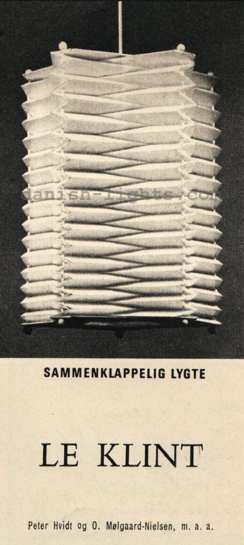 Peter Hvidt & Orla Mølgaard-Nielsen for Le Klint: Sammenklappelig lygte
