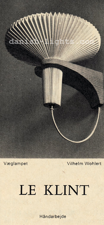 Vilhelm Wohlert for Le Klint: Vaeglampet