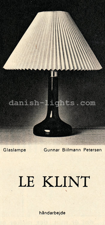Gunnar Biilmann Petersen for Le Klint: Glaslampe