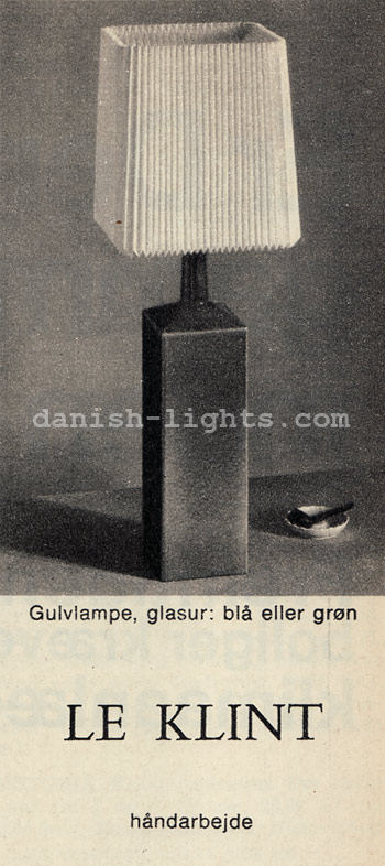 Unspecified designer for Le Klint: Gulvlampe