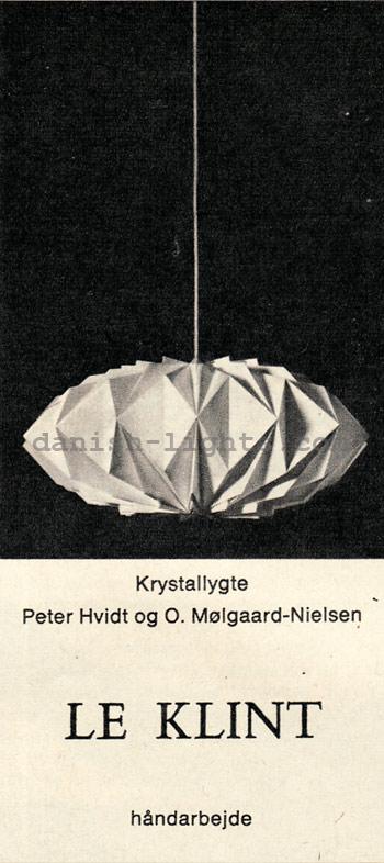 Peter Hvidt & Orla Mølgaard-Nielsen for Le Klint: Krystallygte